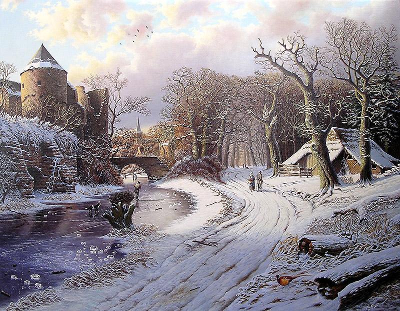 Winterlandschap Rob van Assen