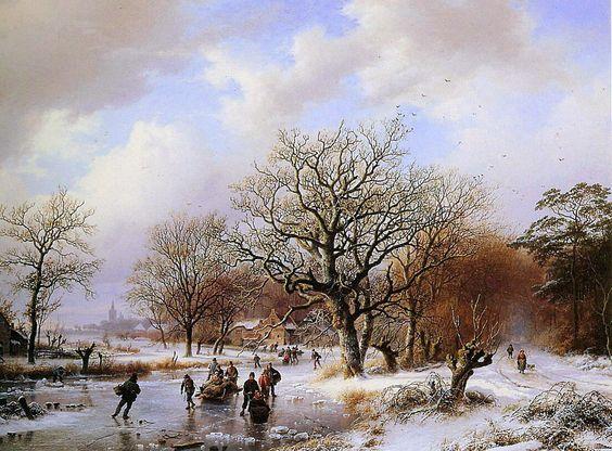 Winterlandschap Barend Cornelis Koekkoek