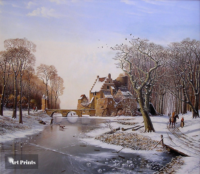 Oud Hollands winterlandschap