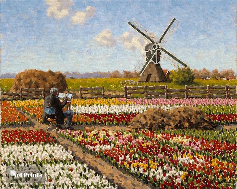 Schilderend in Voorhout