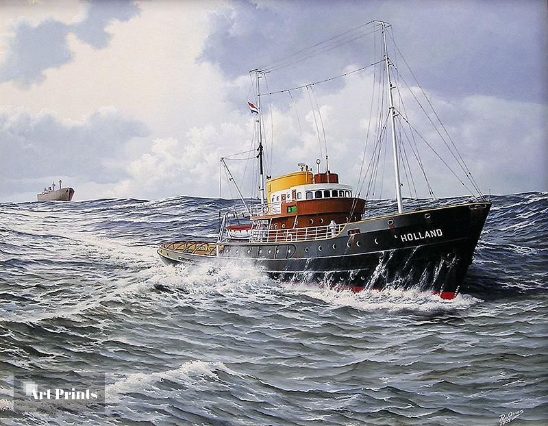 Zeesleepboot de 'Holland'...