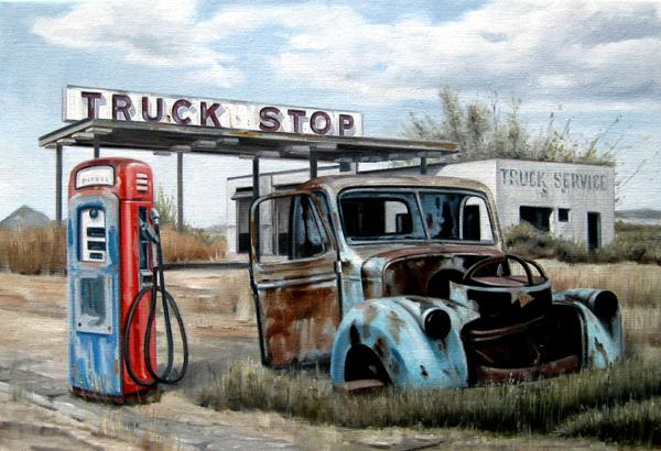 Truck stop langs de Route 66
