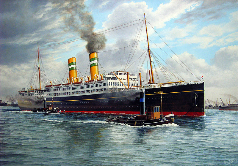 Passagiersschip de 'Veendam II'