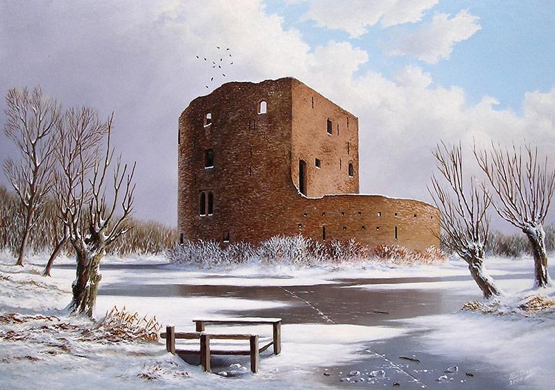 Slot Teijlingen rond 1850