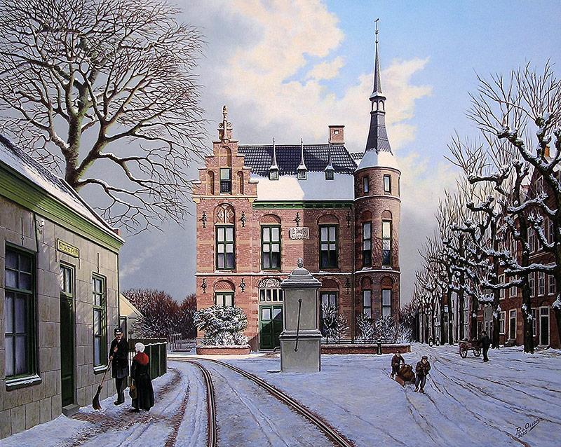 Noordwijks raadhuis in 1905