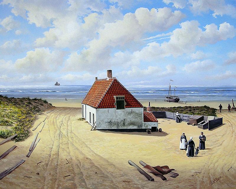 Noordwijks vissershuisje rond 1895