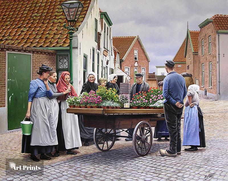 De bloemenkar rond 1900
