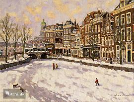 Wintergezicht Leiden
