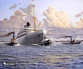 Passagiersschip de 'Willem Ruys'...