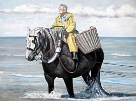 Garnaalvisser te paard...