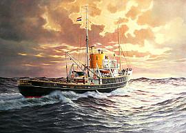 Zeesleepboot de 'Holland' in 1970