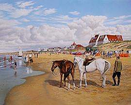 Noordwijks strand in jaren 60