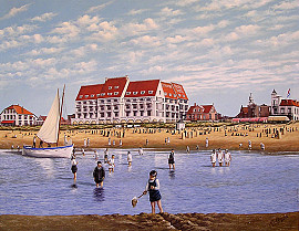 Strand voor Palace Hotel 1932