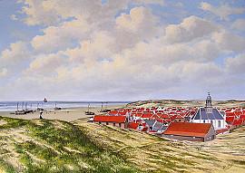 Noordwijks vissersdorp in 1895
