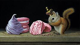 Ecureuil aux meringues et macarons