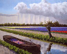 Trekschuit in Voorhout