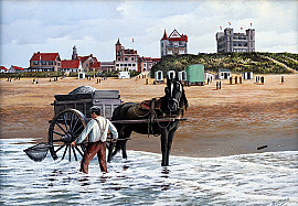 Noordwijkse kust met oud Huis ter Duin